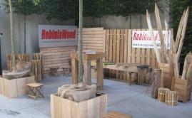 Beurs met plantenbakken, poorten en meubels Robinia (4)