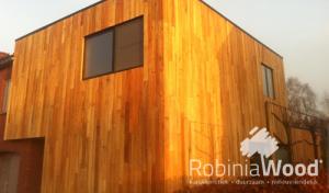 Robinia Wood is uitermate geschikt voor gevelbekleding.